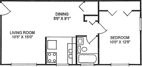 Floor plan: front