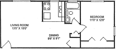 Floor plan: rear